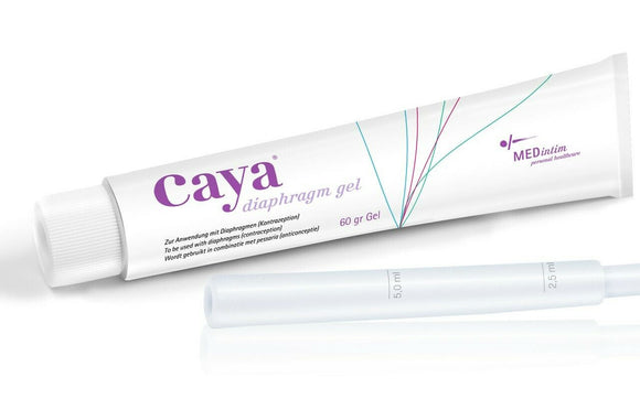 Caya Gel 60g For Diaphragm & Cervical Caps Use, Reduced Motility of Sperm Cells