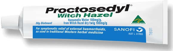 Proctocedyl Witch Hazel 30G Western Herbal Medicine For Relief of Haemorrhoids