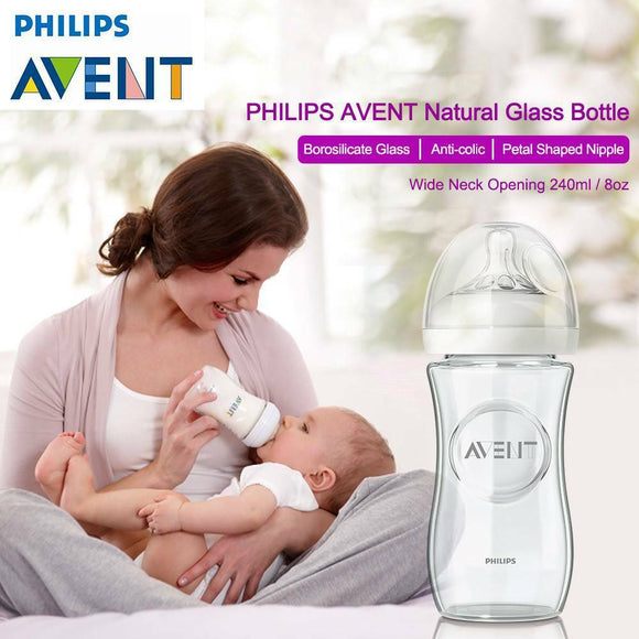 Philips Avent Natural Glass Bottle 240ml Wide Neck