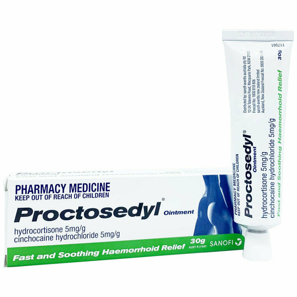 Proctosedyl Ointment 0.5% 30g Relief for Haemorrhoids & Anal Fissures