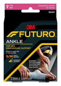3M Futuro For Her Wrap Around Slim Ankle Support Small Medium Compression