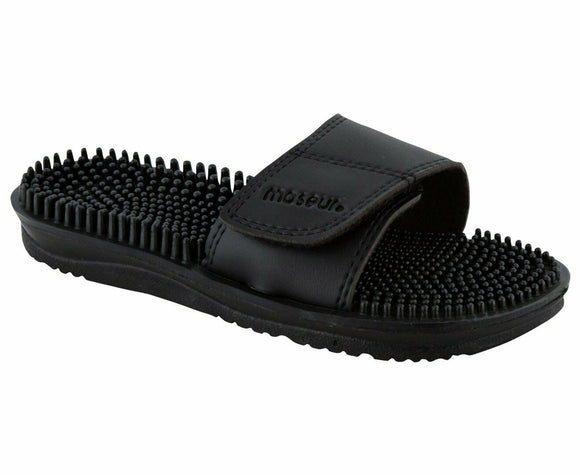 Maseur Invigorating Reflex Zone Massage Sandal Black SIZE 9