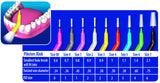 2 x 40 Pack = 80 Piksters Size 4 Interdental Red Handle Brush Like Floss
