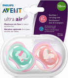Philips Avent Freeflow Soother 18month+ Orthodontic Extra Firm 2 Pack + Case