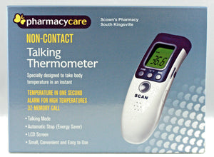 Pharmacy Care Infrared Talking Thermometer Non-Contact w/ Storage Bag