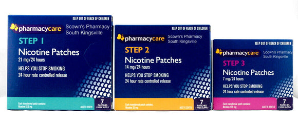 Pharmacy Care Nicotine Patches 7-21mg Step 1-3 Entire Quit Now Program