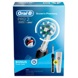 Oral-B Pro 2 2000 Black Electric Toothbrush Black with Travel Case