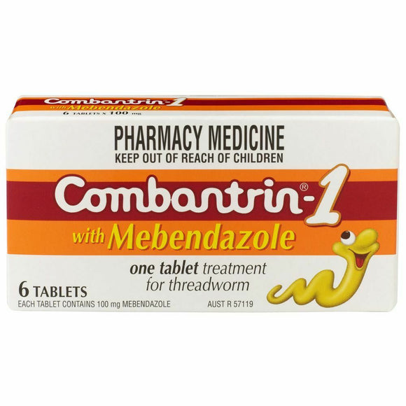 Combantrin 6 Tablets for Threadworm, Roundworm & Hookworm