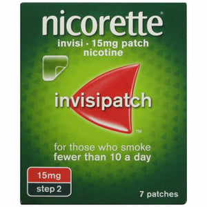 Nicorette 16hr Invisipatch Patches Step 2 15mg 7 Pack