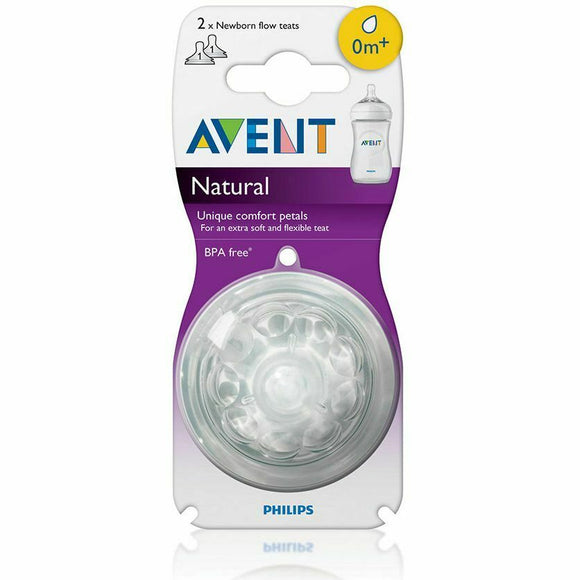 Philips Avent Natural Teat 0 Months+ - Newborn Flow - 2 Pack