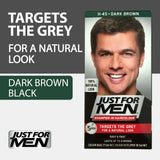 Just for Men Shampoo In Hair Haircolour Natural Look Dark Brown M45 Pack of 3