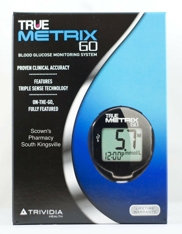 True Matrix Go Blood Glucose Monitoring System incl Lancing Device & 10 Lancets