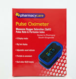 Pharmacy Care Oximeter Measures Oxygen Saturation, Pulse Rate, Perfusion Index