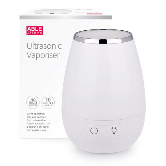 Able Asthma Ultrasonic Vaporiser Air Purifier 8 Colours Lamp 10h Night Operation