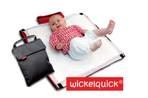 WICKELQUICK Nappy Change Bag from Germany - RED