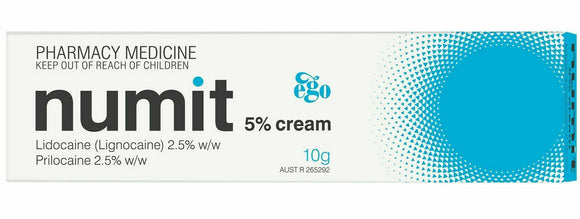 Ego Numit 5% Cream 10g Skin-numbing Effect for Tattoo Vaccination Hair removal