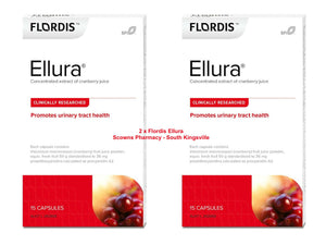 2 x Flordis Ellura Cystitis Urinary Tract Health Support Cranberry