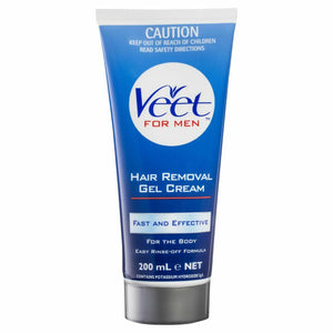 Veet For Men Body Hair Removal Gel Cream All Skin 200mL