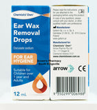 2 x Chemist's Own Ear Wax Removal Drops 12mL Unblocks Ear Canal