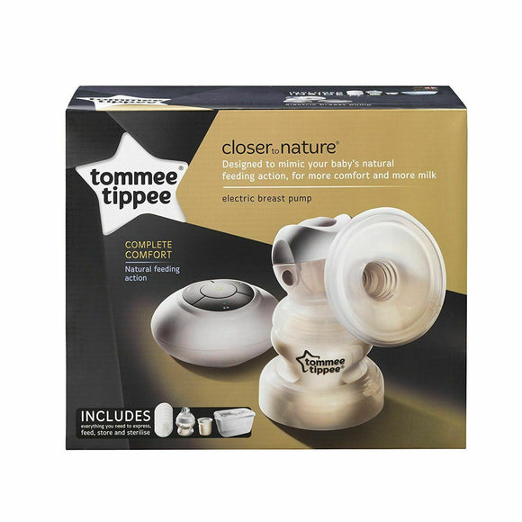 Tommee Tippee Closer to Nature Electric Single Breast Pump + Bottle, Steriliser