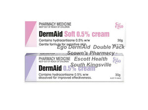 DermAid Cream and Soft 0.5% 2 x 30g Double Pack