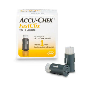 Accu-chek FastClix 100+2 102 Lancets for all FastClix Models Performa Nano Guide