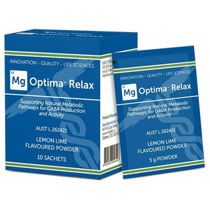 Medlab Mg Optima Relax Lemon Lime 10 Sachets Magnesium Vitamin B6