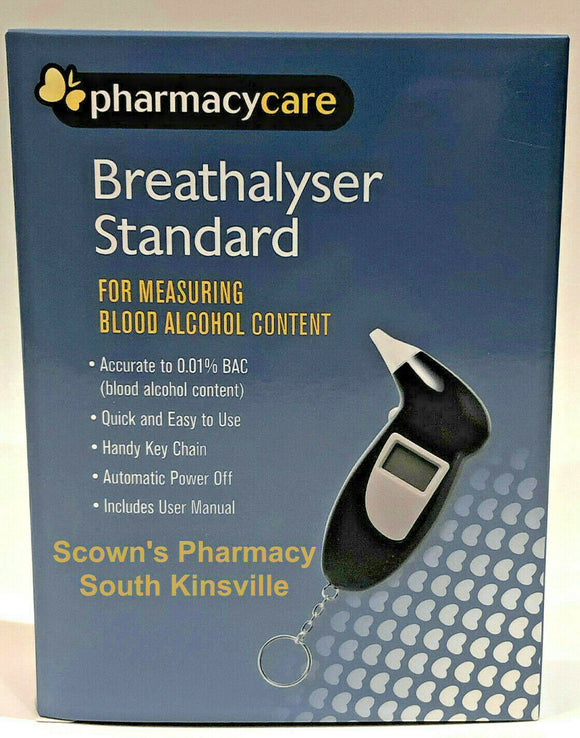 Pharmacy Care Breathalyser Measuring Blood Alcohol Content incl. 5 Mouthpieces