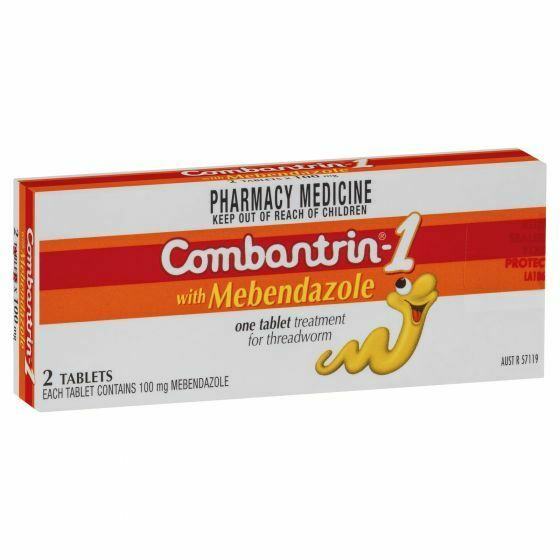 Combantrin 2 Tablets for Threadworm, Roundworm & Hookworm