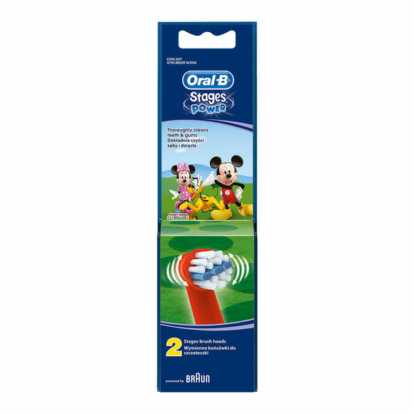 Oral-B Stages Power Brush Heads Mickey Mouse Replacement - 2 Pack