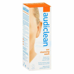Audiclean Ear Cleansing Wash - 60mL Washing Away Excess Wax & Dirt