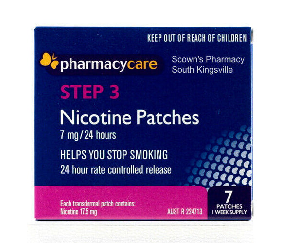 Pharmacy Care Nicotine Patches 7mg 24 Hours Step 3