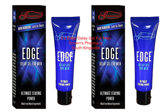 2 x Edge Delay Gel 7mL For Men Helps Prevent Premature Ejaculation Non-Numbing