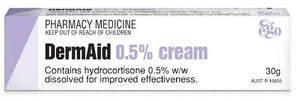 DermAid Cream 30g Gentle Cream 0.5% Rashes Dermatitis Eczema