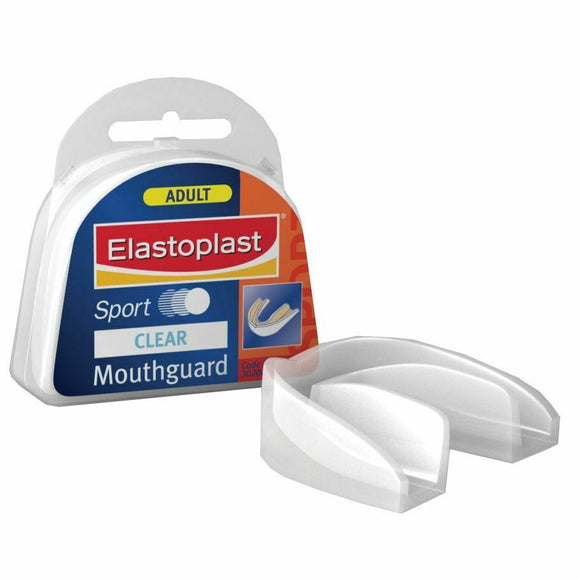 Elastoplast Sport Mouthguard Adult Clear Mouthpiece Gum Support Teeth Protectionn