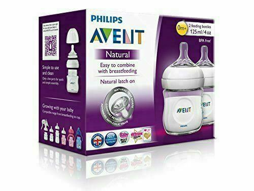 Philips Avent Natural Feeding Bottle - 125 mL - 2 Bottle Set