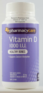 Pharmacy Care Vitamin D 1000 I.U. 400 Capsules