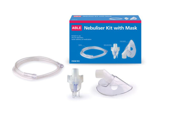 Able Asthma Child Nebuliser Kit Universal with Child Mask