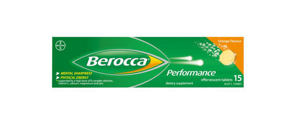 Berocca Performance Orange Effervescent 15 Tablets