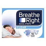 Breathe Right Regular Clear Strips 10 Pack