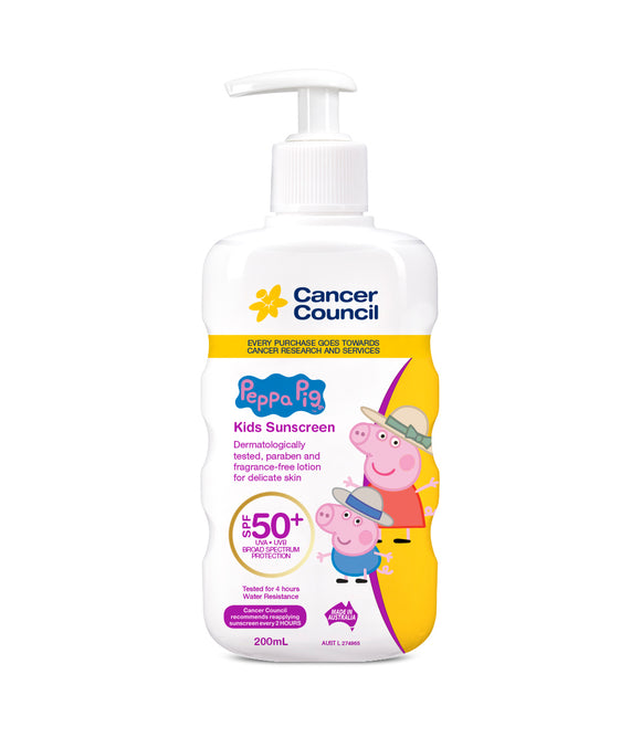 Cancer Council Kids Pump SPF50+ Peppa Pig 200ml
