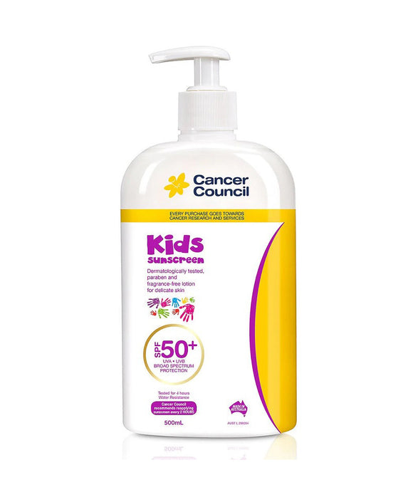 Cancer Council Kids Pump SPF50+ 500ml