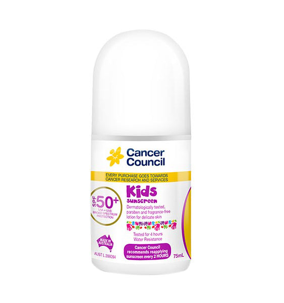 Cancer Council Kids SPF50+ Roll On 75ml