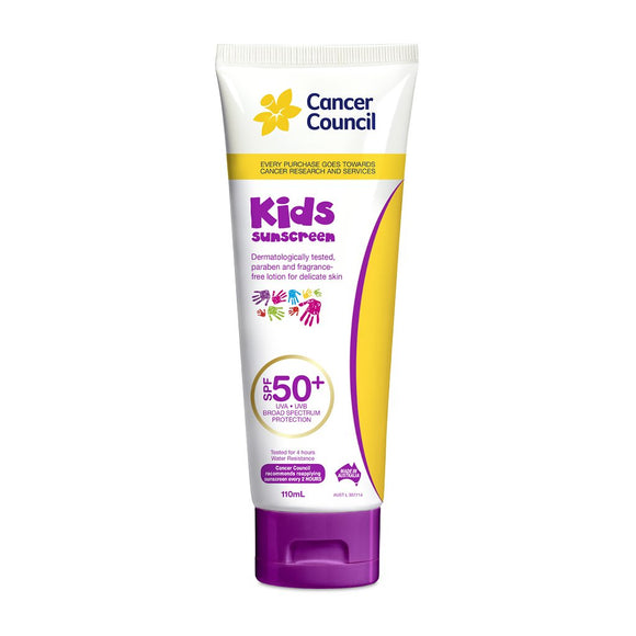 Cancer Council Kids Sunscreen Tube SPF 50+ 110ml