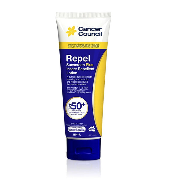Cancer Council Insect Repellent Sunscreen SPF50+ 110ml