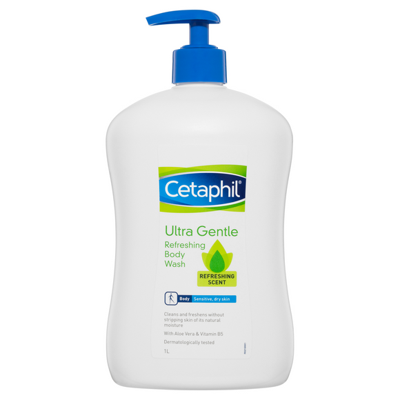 Cetaphil Ultra Gentle Refreshing Body Wash 1L
