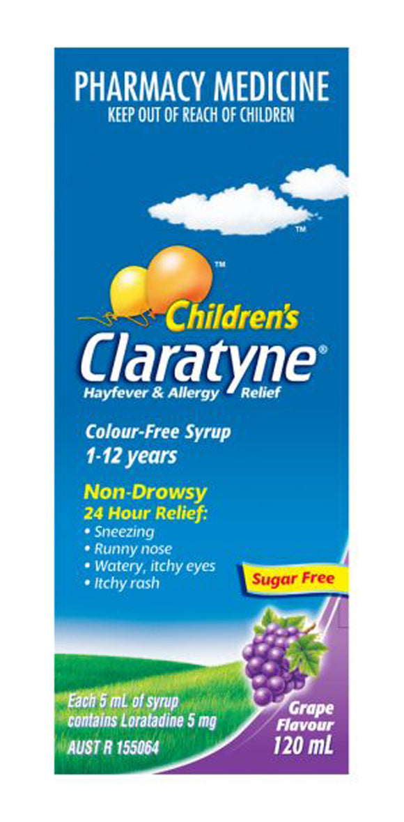 Claratyne Children's Syrup Grape 120ml
