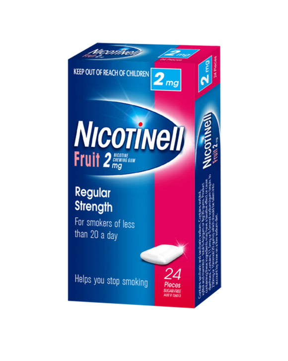 Nicotinell® Fruit Chewing Gum 2mg 24 Pack