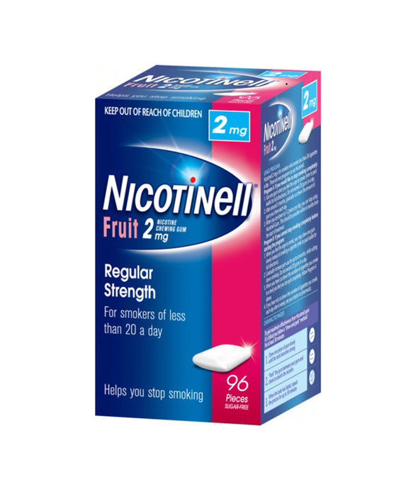 Nicotinell® Fruit Chewing Gum 2mg 96 Pack