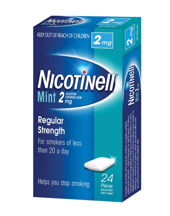 Nicotinell® Mint Chewing Gum 2mg 24 Pack